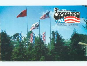 Unused Pre-1980 OPRYLAND USA TOURIST ATTRACTION Nashville Tennessee TN E7595