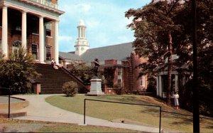 Virginia Lynchburg Campus Scene Showing East Hall & Library Randolph-Macon Wo...