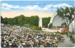 Band Shell, Music Temple, Washington Park, Milwaukee, Wisconsin, WI , Linen