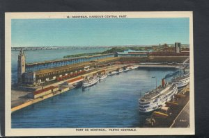 Canada Postcard - Montreal Harbour Central Part   T9228