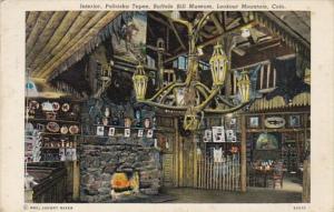 Colorado Interior Pahaska Tepee Buffalo Bill Museum Lookout MOuntain 1940 Cur...