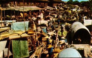 Thailand Bangkok Scenery Of The Floating Market