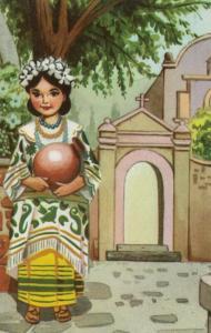 MEXICO, 40-60s; Mestizas Chinantecas, Chinantecas girls