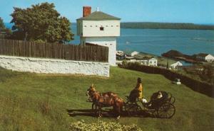 The Blockhouse old Fort Mackinac, Michigan 1955 unused Po...