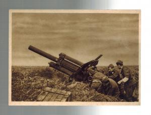 Mint Czechoslovakia 1945 Soldiers with Artillery RPPC Postcard WW 2