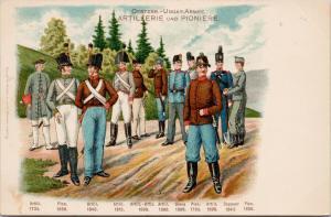 Oesterr Ungar Armee Artillerie und Pioniere Soldiers Verlag Glaser Postcard D98