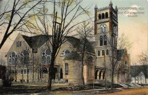 Rockford, IL 2nd Congregational Church 1909 PCK Vintage Postcard