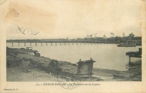 Cote d'Ivoire Postcard Grand-Bassam The Lagoon Footbridge image