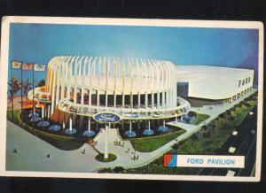 1964 NEW YORK WORLD'S FAIR FORD MOTOR CO. PAVILION ADVERTISING OLD POSTCARD