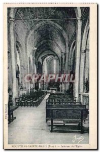 Moustiers Sainte Marie - The Church - Old Postcard