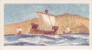 Brooke Bond Vintage Trade Card Saga Of Ships 1970 No 5 Crusading Ship