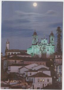 Ouro Preto, Brazil, night scene, used Postcard