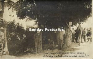 Czechoslovak Legionaries Executed by Hanging by Austria-Hungarians 1914 WWI RPPC