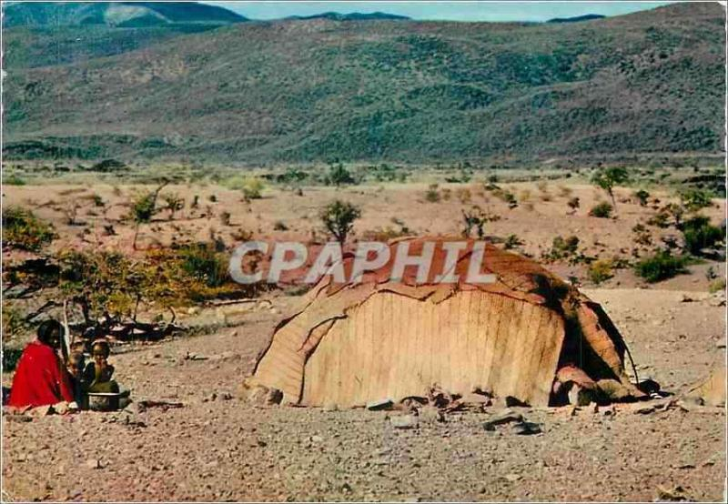 Modern Postcard Area of Tadjourah the Family Tent of the Djibouti Nomads
