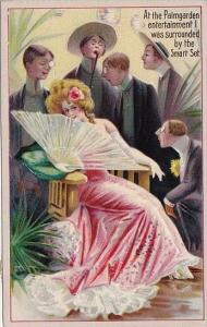 Beautiful Woman With At The Palmgarden With Men Watching 1910