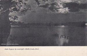 Lake Coguac by Moonlight, Battle Creek, Michigan, PU-1907