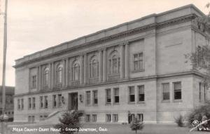 Grand Junction Colorado Court House Sanborn Real Photo Antique Postcard J60203