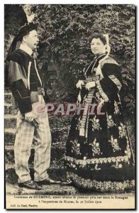 Postcard Old Folk Costumes of Guemene