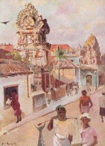 London Reward Card Hindu Temples in Colombo Trading Postcard