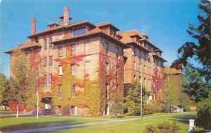 Tacoma Washington~Pacific Lutheran College~Old Main~Dorm~1950s Postcard
