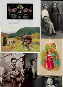 Theme People Fantasy Art Nouveau Postcard Lot of 20 with RPPC 01.08