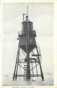 c1930s Printed Postcard; Chapman Light, Canvey Island, Essex UK unposted