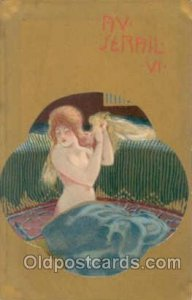 Artist Raphael Kirchner Unused close to perfect, light tab markings from bein...