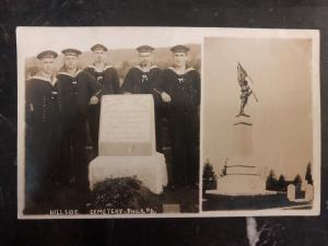 Mint USA RPPC Postcard Hillside Cemetery Philadelphia Pa