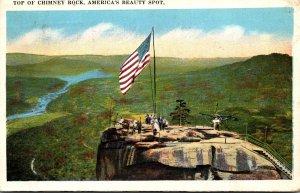 North Carolina Top Of Chimney Rock America's Beauty Spot 1921