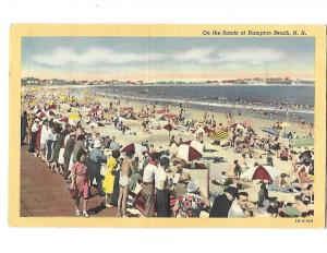 On the Sands of Hampton Beach New Hampshire Mailed 1952