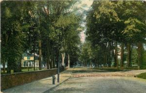 Norwich Connecticut~View Of Washington Street Homes~Residential Area~1911