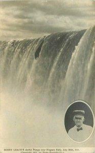 Bobby Leach Plunge 1911 Niagara Falls New York RPPC Photo Postcard 20-238