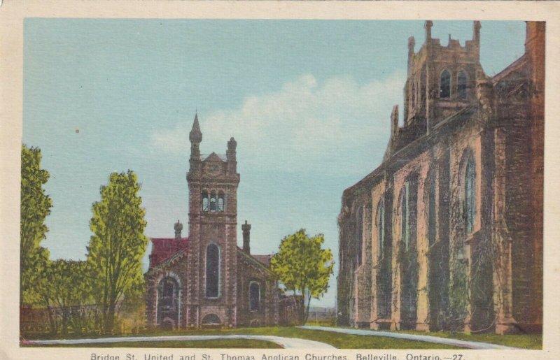 BELLEVILLE, Ontario, 00-10s; Bridge St. United & St. Thomas Anglican Churches