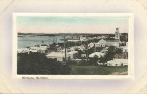 bermuda, HAMILTON, Partial View (1910s) Embossed