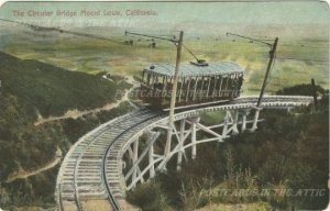 Antique Postcard The Circular Bridge Mount Lowe, California - Divided Back
