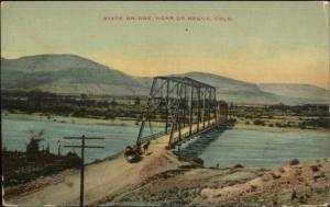 State Bridge De Beque CO c1910 Postcard
