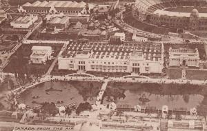 Canada Pavilion from air , Stadium , British Empire Exhibition , 1924