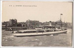 Le Havre, Arrivee du bateau de Rouen