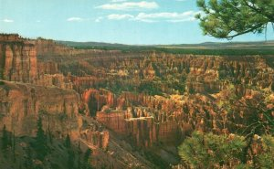 Bryce Canyon Nat'l Park, UT, View from Bryce Point, Vintage Postcard g9228