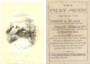 Loring & BLake Organ Company Trade Card Approx Size Inches = 3.5 x 5 Unused b...