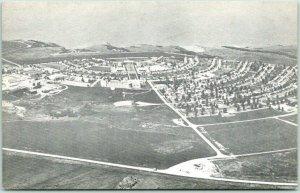 Riverdale, North Dakota Postcard Town Site Aerial View Zenith Air Photos 1950s