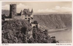 RP; Am Rhein, BURG KATS m. d. Loreley, Rhineland-Palatinate, Germany, 10-20s