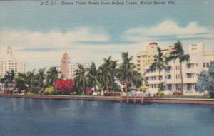 Florida Miami Beach Ocean Front Hotels From Indian Creek 1947 Curteich
