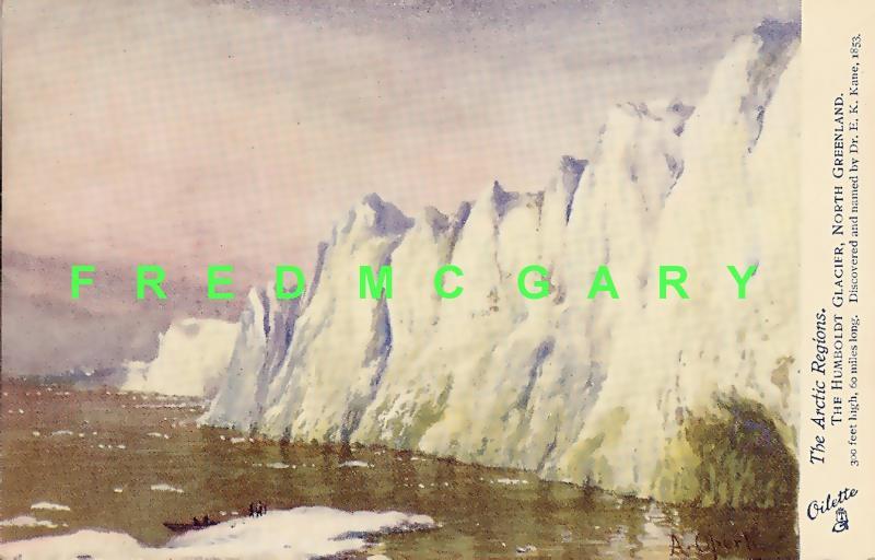 1910 Greenland PC: Humboldt Glacier, Signed Albert Operti Art