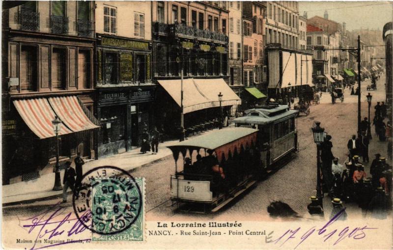 CPA Nancy - Rue Saint-Jean - Point Central (484034