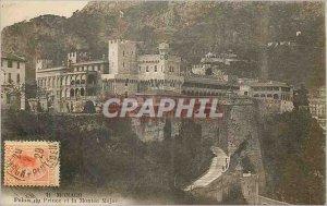 Old Postcard Monaco - Prince's Palace and Montee Major
