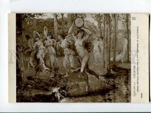257114 NYMPH Dance BEETHOVEN by DELACROIX Vintage SALON 1914 y