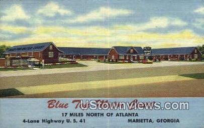 Blue Top Motor Court Marietta GA Writing On Back