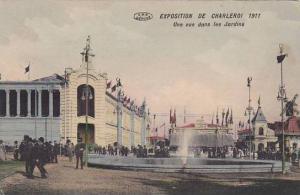 Belgium Exposition de Charleroi 1911 Une vue dans les Jardins