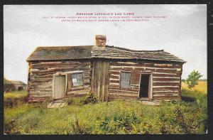 Abraham Lincolns Log Cabin Coles County Illinois Unused c1910s
